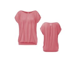 Curare crincled Top pastell-coralle