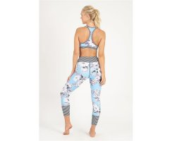 Dharma Bums Aqua High Tea High Waist Leggings, 7/8