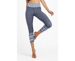Dharma Bums Aveiro Blue High Waist Leggings, 7/8