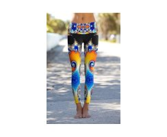Mandel Spiral Printed Permormance Leggings