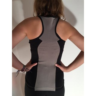 Asquith London Racer back top, stone black