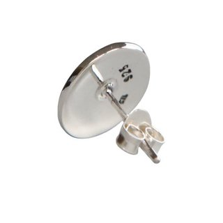 Ohrstecker Blume des Lebens 12 mm 925er Silber